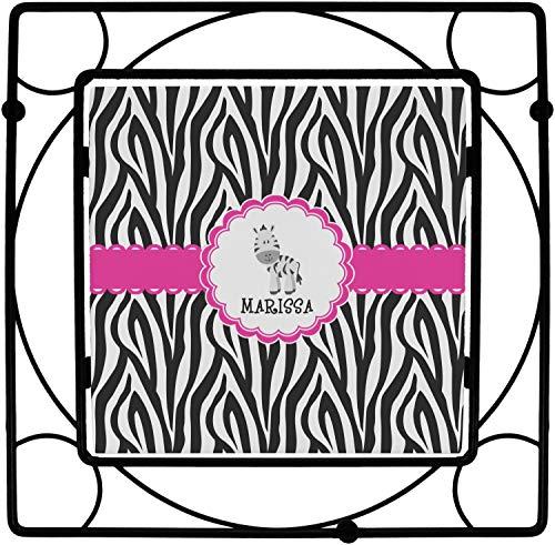 Zebra Square Trivet (Personalized) ()