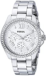 Fossil Women's AM4481 Cecile Multifunction Stainless Steel Watch - Silver-Tone