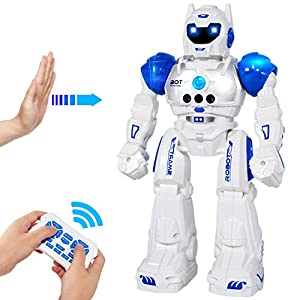 51m2BqndXoL. SS300  - MIBOTE Remote Control Robot Toys for Kids, Smart Gesture Control & RC Remote Control Rechargeable Programmable Robot for…