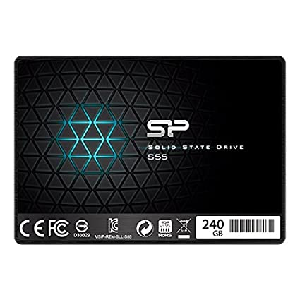 Silicon Power S55 240GB Ultra Slim Internal Solid State Hard Drive (SP240GBSS3S55S25) Components at amazon