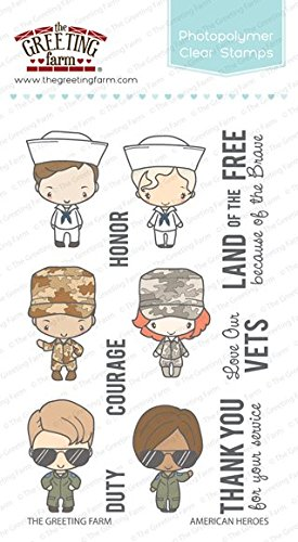 Amazon the greeting farm american heroes clear stamps arts the greeting farm american heroes clear stamps m4hsunfo