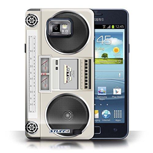 Kobalt® Imprimé Etui / Coque pour Samsung Galaxy S2/SII / Boombox conception / Série Retro Tech