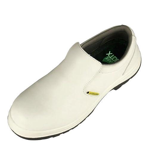 DDTX Zapatos de Seguridad Hombre Trabajo S2 SRC Calzado de protección Antideslizante Antiestáticos Blanco Tallas 38