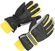 XTACER Kids Ski Snow Gloves Snowboard Winter Warm Cold Weather Gloves for Boys Girls Children