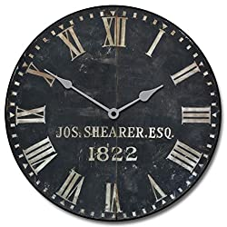 1822 Old Sheriffs Wall Clock, Available in 8 sizes, Most Sizes Ship 2 - 3 days, Whisper Quiet.