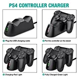 PS4 Controller Charger,DinoFire PS4 / PS4 Pro / PS4 Slim / DualShock 4 Controller Charging Station PlayStation 4 USB Charging Stand / Dock