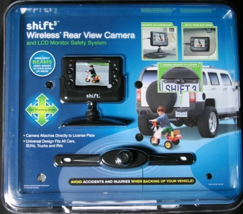 Shift3 Wireless Rear View Camera Pivot License Plate Mount