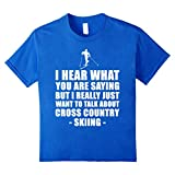 Kids Cross Country Skiing Clothing T-Shirt - Funny Shirt For Mom  10 Royal Blue