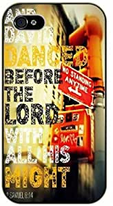 iPhone 6+ Plus And david danced before the Lord with all his might - 2 Samuel 6:14 - Bible verse black plastic case / Christian Verses