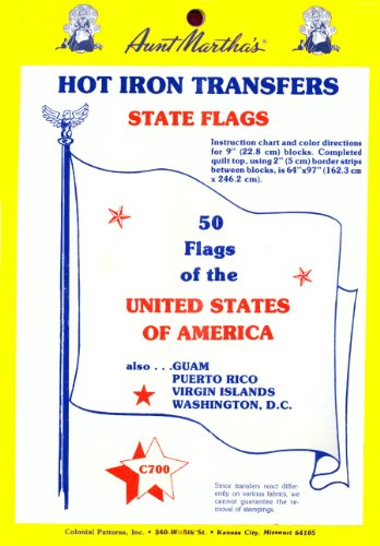 Flag Transfer (Aunt Martha's State Flags Iron On Transfer Pattern Collection, All 50 States)