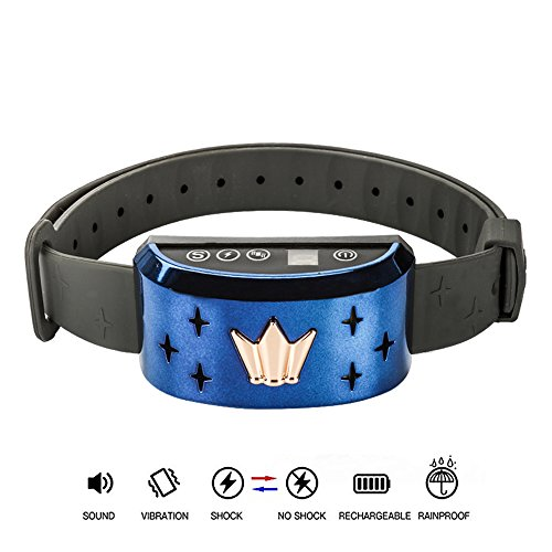 CHAUDER Anti Bark Collar for Small Dog Large Dog - Safe Bark Controller, Rechargeable,Waterproof with Intelligent Vibration, Beep and Static Shock Mode