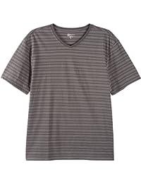 "<span class=""a-offscreen"">[Sponsored]</span>Mens Stripe Texture V-Neck T-Shirt"