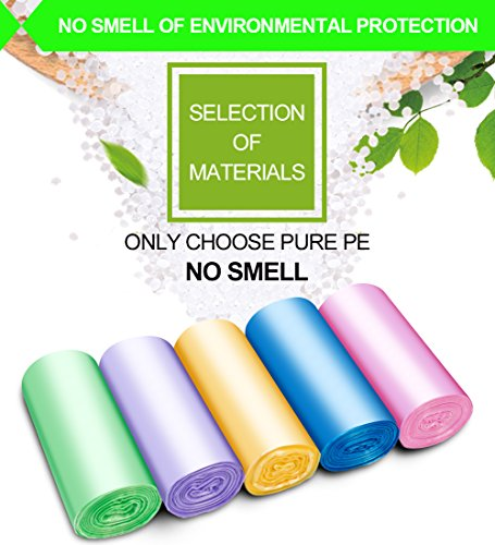 Small Trash Bags,2.6 Gallon Garbage Bags FORID Bathroom Trash can Liners for Bedroom Home Kitchen 150 Counts 5 Color by FORID (Image #1)