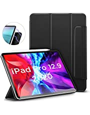 """ESR Rebound Magnetic Smart Case for iPad Pro 12.9"""" 2020 & 2018, Convenient Magnetic Attachment [Supports Apple Pencil Pairing & Charging] Smart Case Cover, Auto Sleep/Wake Trifold Stand Case - Black"""