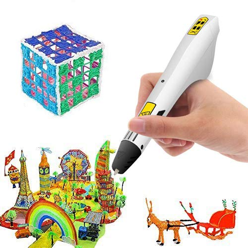 3-Piece Set Professional 3D Drawing Printing Printer Pen with 1.75mm PLA Filament for Arts Crafts DIY Releeder 3D Printing Pen Perfect Gift for Kids and Adults