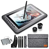 Parblo Mast10 10.1' Graphic Tablet Drawing Monitor with Battery-Free Drawing Tablet Pen Passive Stylus, Shortcut Keys, USB USB Type C Cable Adapter for Digital Art Sketch, Paint, Design