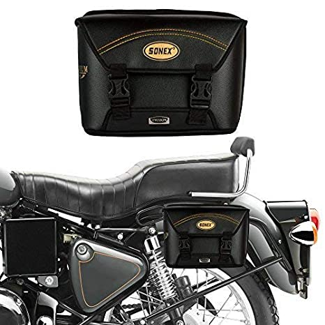 Autofy Sonex Tycoon Universal Side Bag with Two Plastic Locks for All Bikes  (Black)