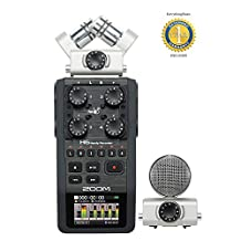 Zoom H6 Handy Recorder with 1 Year Free Extended Warranty