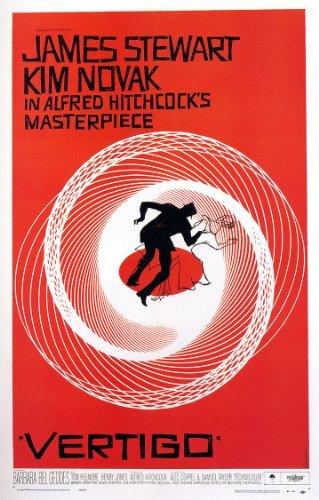Alfred Hitchcocks Vertigo Vintage Movie Reproduction A4 Post