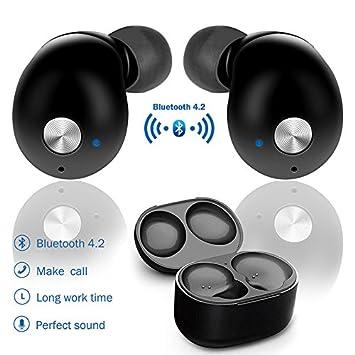 Mini Auriculares Deportivos,de estéreo intraurales con Bluetooth,auriculares inalámbricos,compatible con iPhone