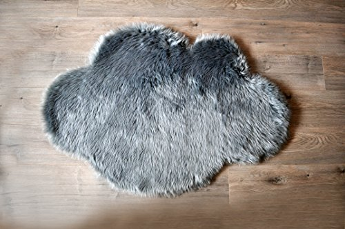 Machine-Washable-Faux-Sheepskin-Grey-Cloud-Area-Rug-32-x-44-Soft-and-silky-Perfect-for-babys-room-nursery-playroom-2-7-x-3-7-Grey-Cloud