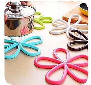 primerry kitchen utensils Quality plum-shaped non-slip insulation pad 5pcs/pack