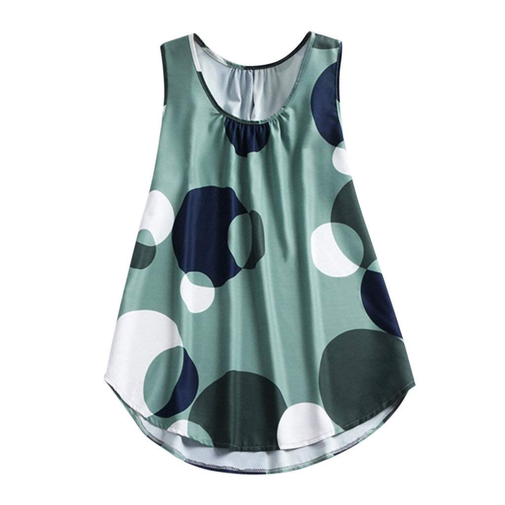 POLP Camisetas sin Mangas de Fiesta Mujer Elegante Tank Tops Casual Camiseta B/ásica para Mujer Ropa Interior Deportiva Talla Grande Camiseta de Tirantes Deporte Blusa Vest Aire Libre S-5XL