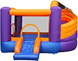 MACALEAN Inflatable Twister Slide Bouncer with Blower / MACALEAN Inflable Tornado con Tobogán, motor.