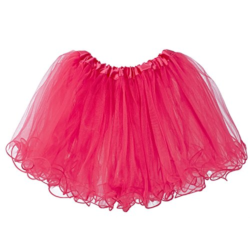 (My Lello Little Girls Tutu 3-Layer Ruffle Edge Hot Pink (4 mo - 3T))