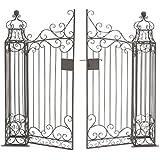 Deco 79 41391 Metal Garden Gate, 64 By 60 Inch