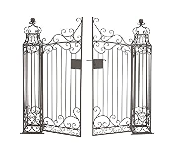 Deco 79 41391 Metal Garden Gate, 64 By 60 Inch