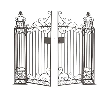 Superbe Deco 79 41391 Metal Garden Gate, 64 By 60 Inch