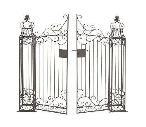 Home decor black wrought iron garden gate door classic