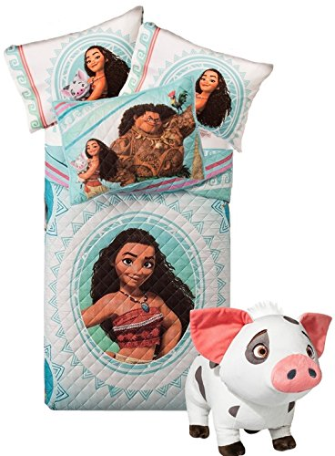 l Size Bedding ~ Twin/Full Quilt, Pillow Sham, Full Sheet Set + PUA Pillow Buddy! ()