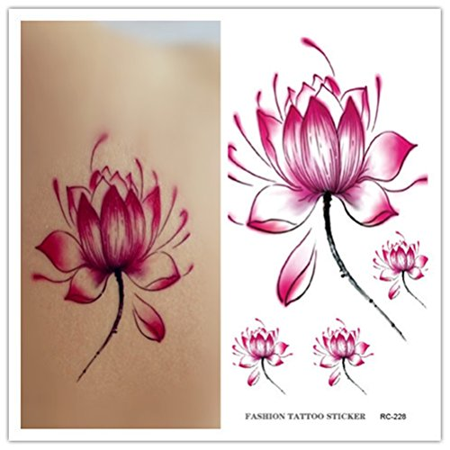 Mode et en ligne Belle Lotus Body Art Autocollants amovible __gVirt_NP_NN_NNPS
