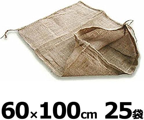 【個人宅配送不可】 麻袋 土のう袋 リベット袋 60×100cm 25枚入り 泥上げ袋 小泉製麻