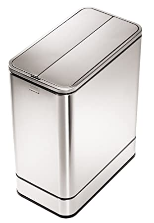 simplehuman butterfly automatic sensor stainless steel trash can 48 liter 126 gallon