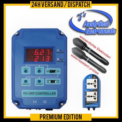 Kombicontroller Steuerung Regler 2-Fach-Messgerät (PH+Redox) CO2-Wert Aquarium Süß- und Salzwasser P13