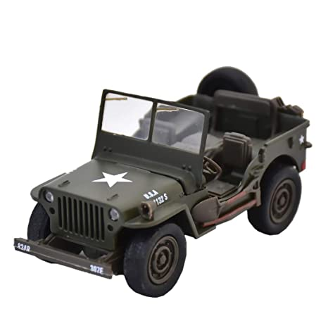 Buy New Ray Jeep Willys Pull Back 1 32 Scale Die Cast Green Online At Low Prices In India Amazon In