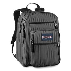 JanSport Big Student Backpack (New Storm Grey Bogart Stripe)