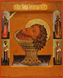 The Head of St. John the Forerunner Traditional Panel Russian Orthodox icon