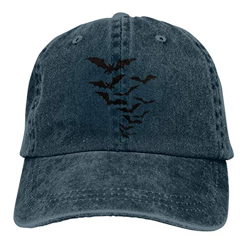 Yuan Kun Bat Shadow Unisex Washed Adjustable Fashion Cowboy Hat Denim Baseball Caps