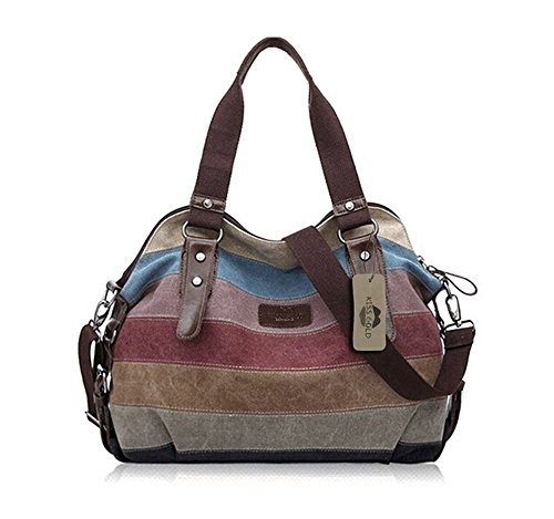 - KISS GOLD(TM Women's Canvas Multi-Color Shopper Tote Shoulder Bag (Multi-Color-Model A)