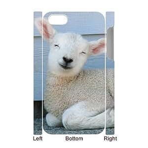 3D Bumper Plastic Case Of Sheep customized case For Iphone 4/4s wangjiang maoyi