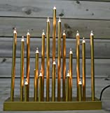 Christmas Star Shaped Candle Bridge with 20 Bulbs (Gold)