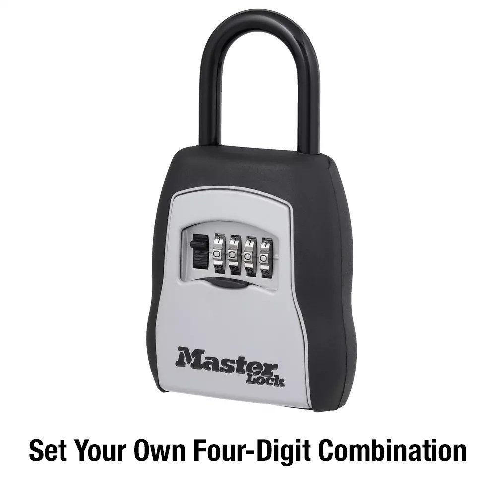 Master Lock 5400d Set Your Own Combination Portable Box 5 Key Here Is An Electronic Code Which Can Be Used As A Door Capacity Black