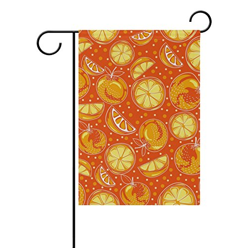 LEISISI Yellow Clementine Garden flag 28
