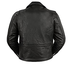 First Manufacturing Black Women's Classic Motorcycle Jacket by First Manufacturing
