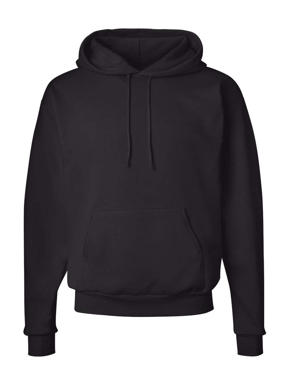 Hanes Men's Pullover EcoSmart Fleece Hoodie, Black, Medium