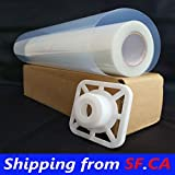 2 Rolls,17'' x100',Waterproof Inkjet Transparency Film Silk Screen Printing